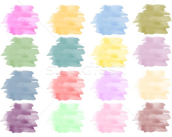 Couleur pour aquarelle eau texture design peinture Photo stock © PiXXart