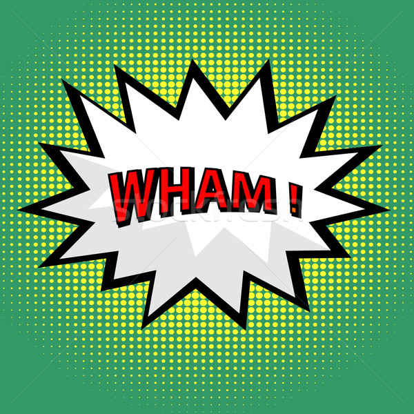 Wham! comic cloud in pop art style Stock photo © PiXXart