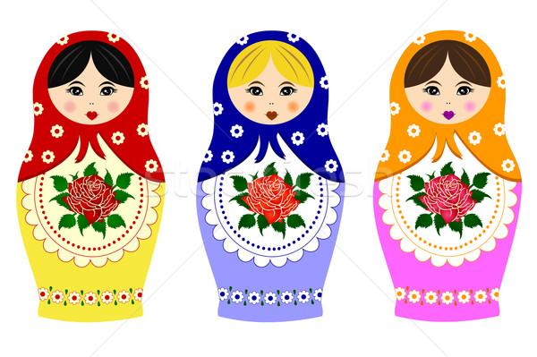 Traditional russian matryoshka Stock photo © PiXXart