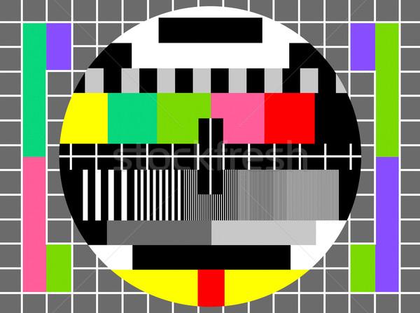 Colore test televisione sfondo schermo comunicazione Foto d'archivio © PiXXart