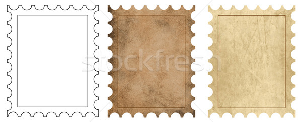 3 postage backgrounds Stock photo © PiXXart