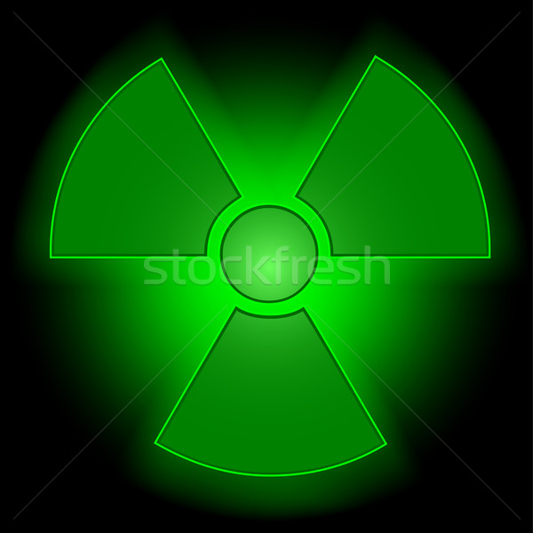 Glowing radioactive symbol Stock photo © PiXXart