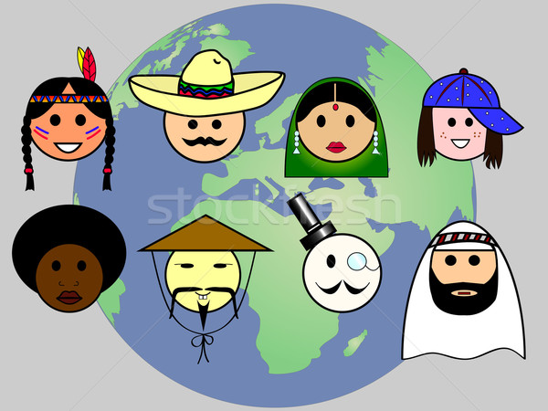 люди всемирный различный Мир женщину Сток-фото © PiXXart