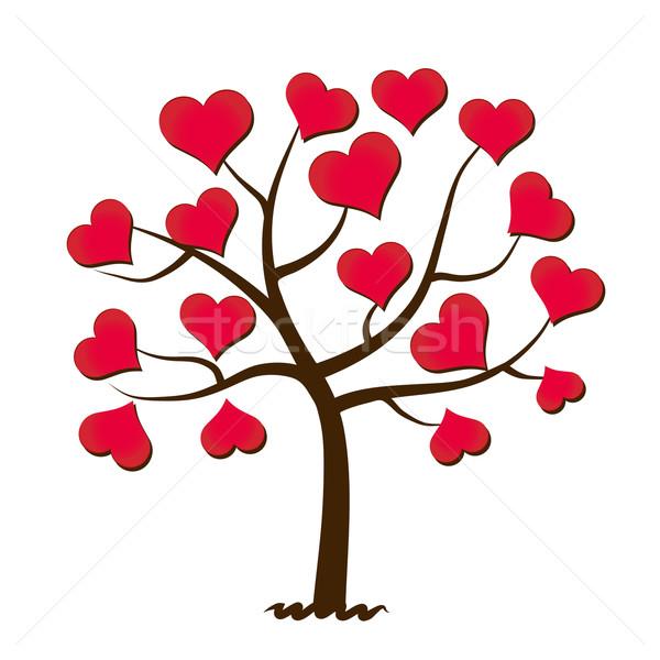 Arbre amour heureux coeur feuille fond Photo stock © PiXXart