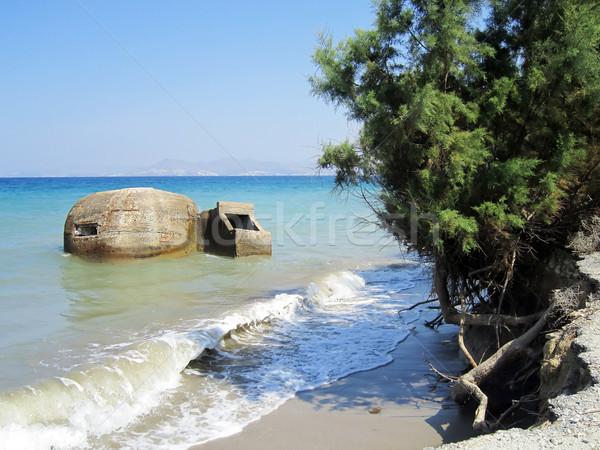 Old defensive bunker near Tigaki; Kos; Greece Stock photo © PiXXart