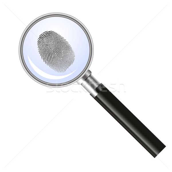 Magnifier glass searching for fingerprint Stock photo © PiXXart