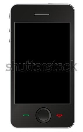 Smartphone business musica comunicazione bianco chiamata Foto d'archivio © PiXXart