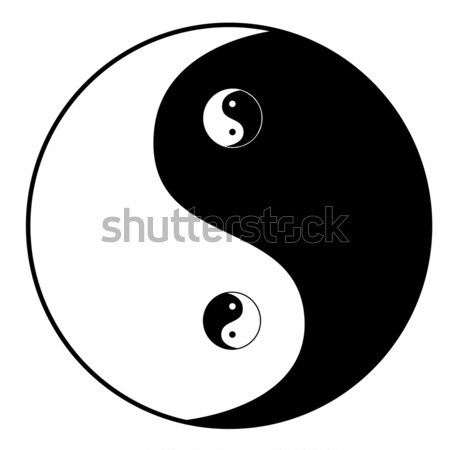 Ying yang symbol Stock photo © PiXXart