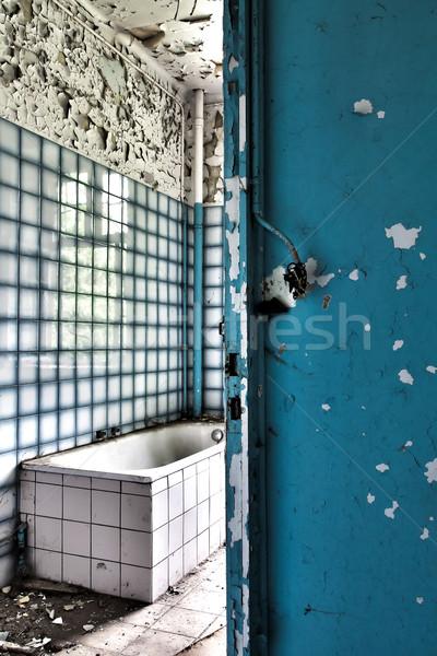 ванную заброшенный дома здании свет стекла Сток-фото © PiXXart