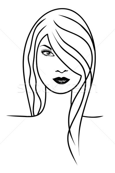 Gezicht mooi meisje abstract ontwerp model jonge Stockfoto © PiXXart