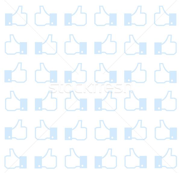 Thumbs up - seamless background Stock photo © PiXXart