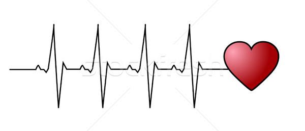 Amor latido del corazón resumen fondo supervisar medicina Foto stock © PiXXart