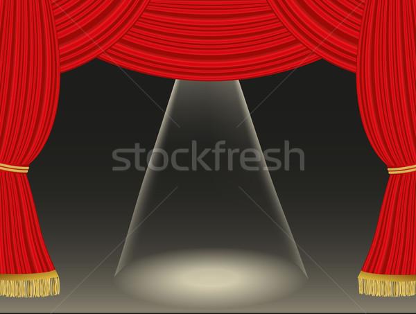 Teatro tende riflettori luce design arte Foto d'archivio © PiXXart