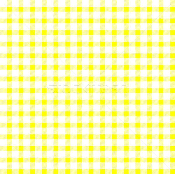 Seamless retro white-yellow square tablecloth Stock photo © PiXXart