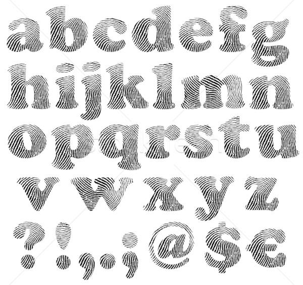 Finger print alphabet Stock photo © PiXXart