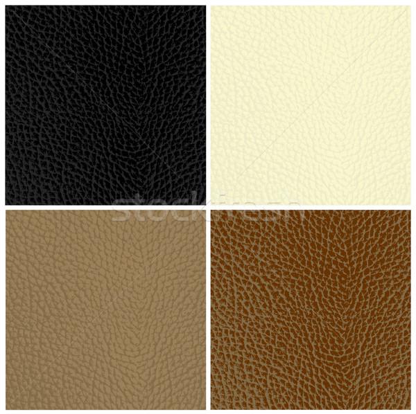 Set of leather textures Stock photo © PiXXart