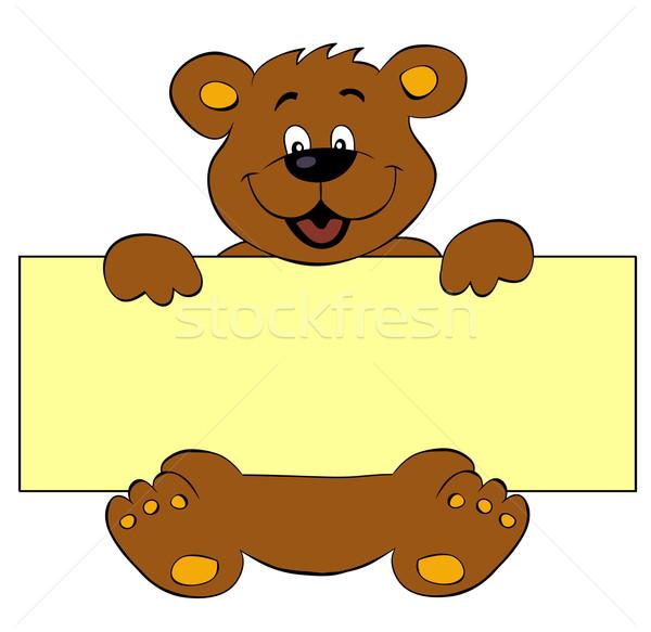 Felice orso banner baby carta animale Foto d'archivio © PiXXart