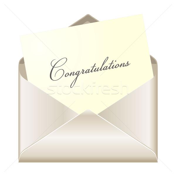 Congratulations card Stock photo © PiXXart