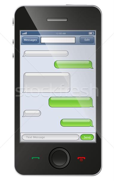Telefono chat modello internet sfondo web Foto d'archivio © PiXXart