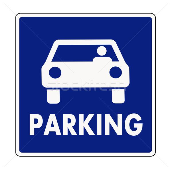 Parking signe rue trafic parc bord Photo stock © PiXXart