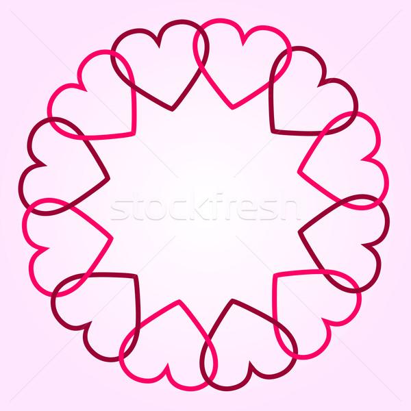 Serca ślub serca tle czerwony retro Zdjęcia stock © PiXXart