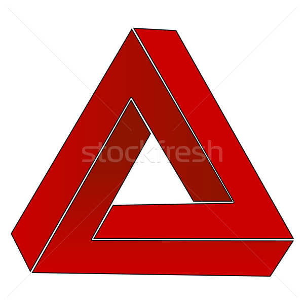 Impossible triangle, optical illusion Stock photo © PiXXart