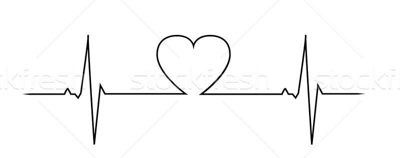 Liefde hartslag abstract achtergrond monitor geneeskunde Stockfoto © PiXXart