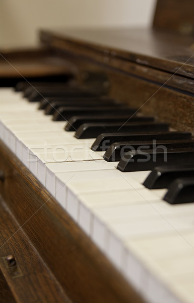 Close up of old piano- shallow depth of field Stock photo © PiXXart