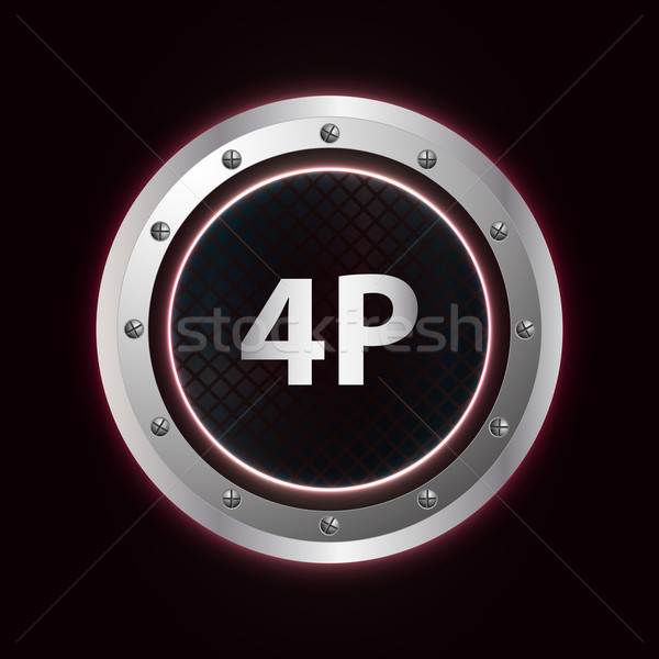 special marketing mix with metallic design Stock photo © place4design