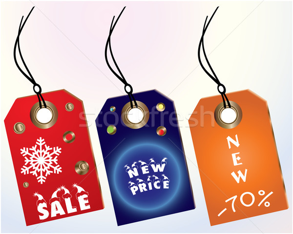 Vector set of tags Stock photo © place4design