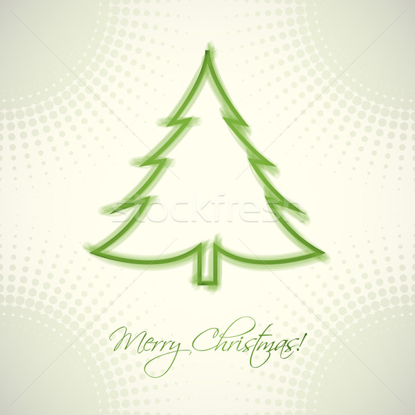 Natal cartão textura projeto árvores arte Foto stock © place4design