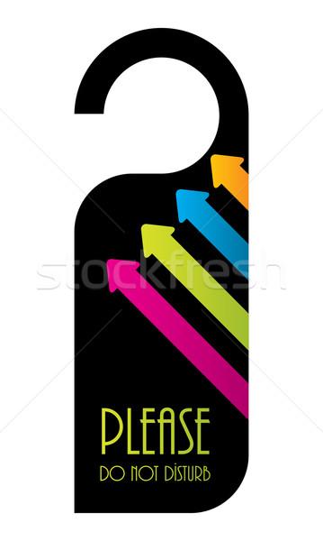 do not disturb door hanger, vector design Stock photo © place4design