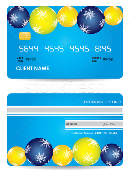 credit card, front and back view - christmas edition  Stock photo © place4design
