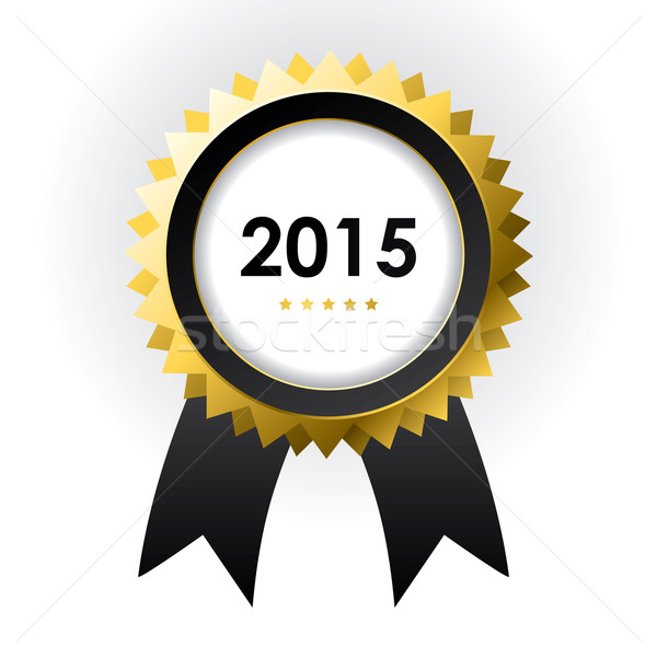 special label with ribbons - best of 2015 sign Stock photo © place4design