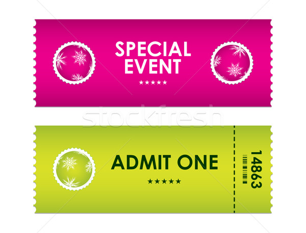 admit one tickets with special christmas design Stock photo © place4design