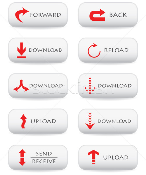 Site téléchargement boutons affaires internet résumé Photo stock © place4design