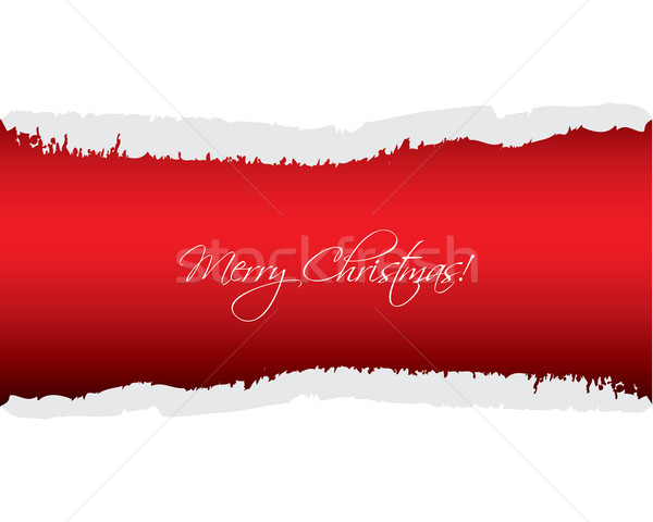 red ripped paper - Christmas edition Stock photo © place4design
