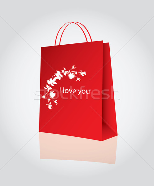 Shopping for valentine's day Stock photo © place4design