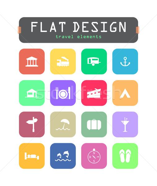 Especial ui ícones teia móvel aplicações Foto stock © place4design