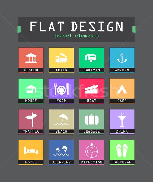 Különleges ui ikonok háló mobil applikációk Stock fotó © place4design