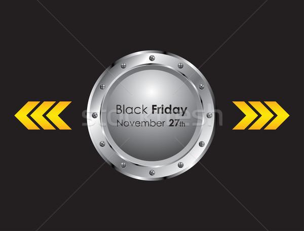 черная пятница металлический дизайна знак магазин стрелка Сток-фото © place4design