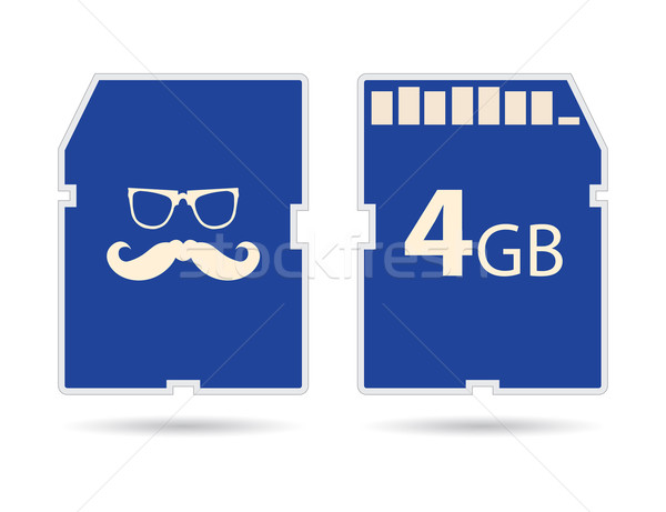 Vector memory SD card with hipster design Stock photo © place4design
