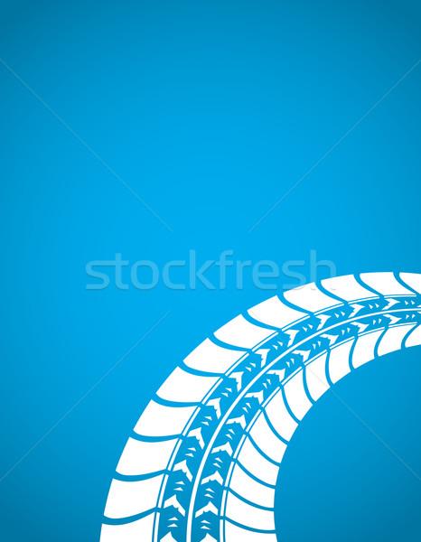 синий шин трек автомобилей дороги аннотация Сток-фото © place4design