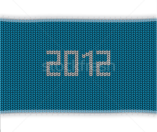 special blue knitted background Stock photo © place4design
