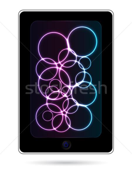 Handy Plasma Design Technologie mobile Bildschirm Stock foto © place4design