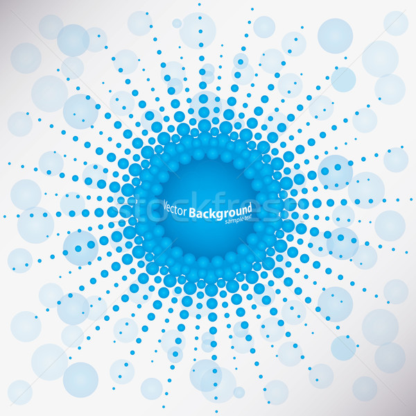 special blue dotted background Stock photo © place4design