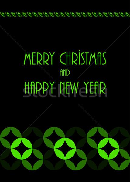 Noël carte de vœux spéciale vecteur design eps10 Photo stock © place4design