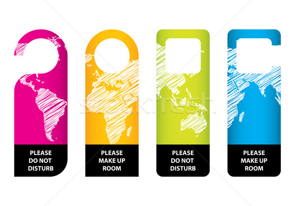 Hotel niet deur hanger papier kaart Stockfoto © place4design