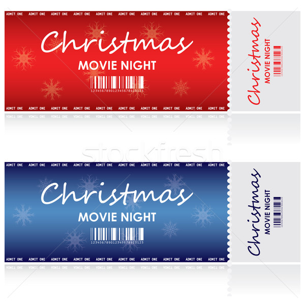 Special tickets for Christmas movie night Stock photo © place4design