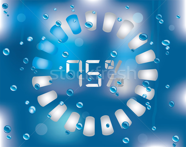 Vector preloader on the wet glass Stock photo © place4design